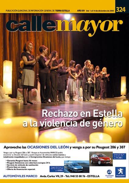 CALLE MAYOR 324 – RECHAZO EN ESTELLA A LA VIOLENCIA DE GÉNERO