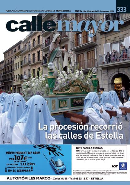 CALLE MAYOR 333 – LA PROCESIÓN RECORRIÓ LAS CALLES DE ESTELLA