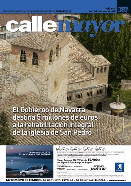 CALLE MAYOR 387 – EL GOBIERNO DE NAVARRA DESTINA 5 MILLONES DE EUROS A LA REHABILITACIÓN INTEGRAL DE LA IGLESIA DE SAN PEDRO