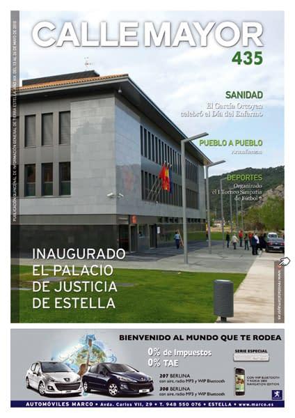CALLE MAYOR 435 – INAUGURADO EL PALACIO DE JUSTICIA DE ESTELLA