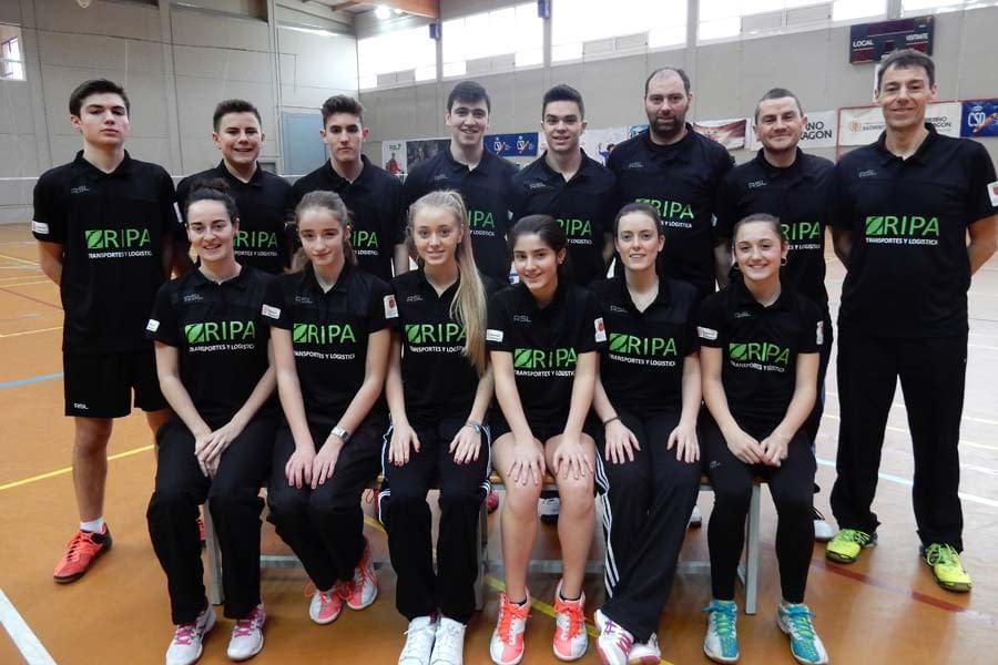 El Club Bádminton Estella B, campeón de Segunda División