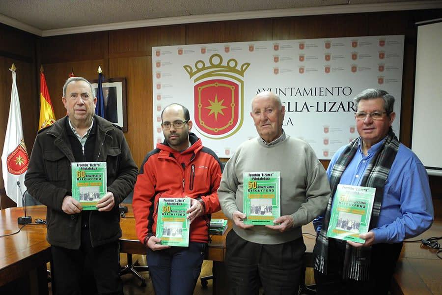 Los 50 años del frontón Lizarra, en 126 páginas